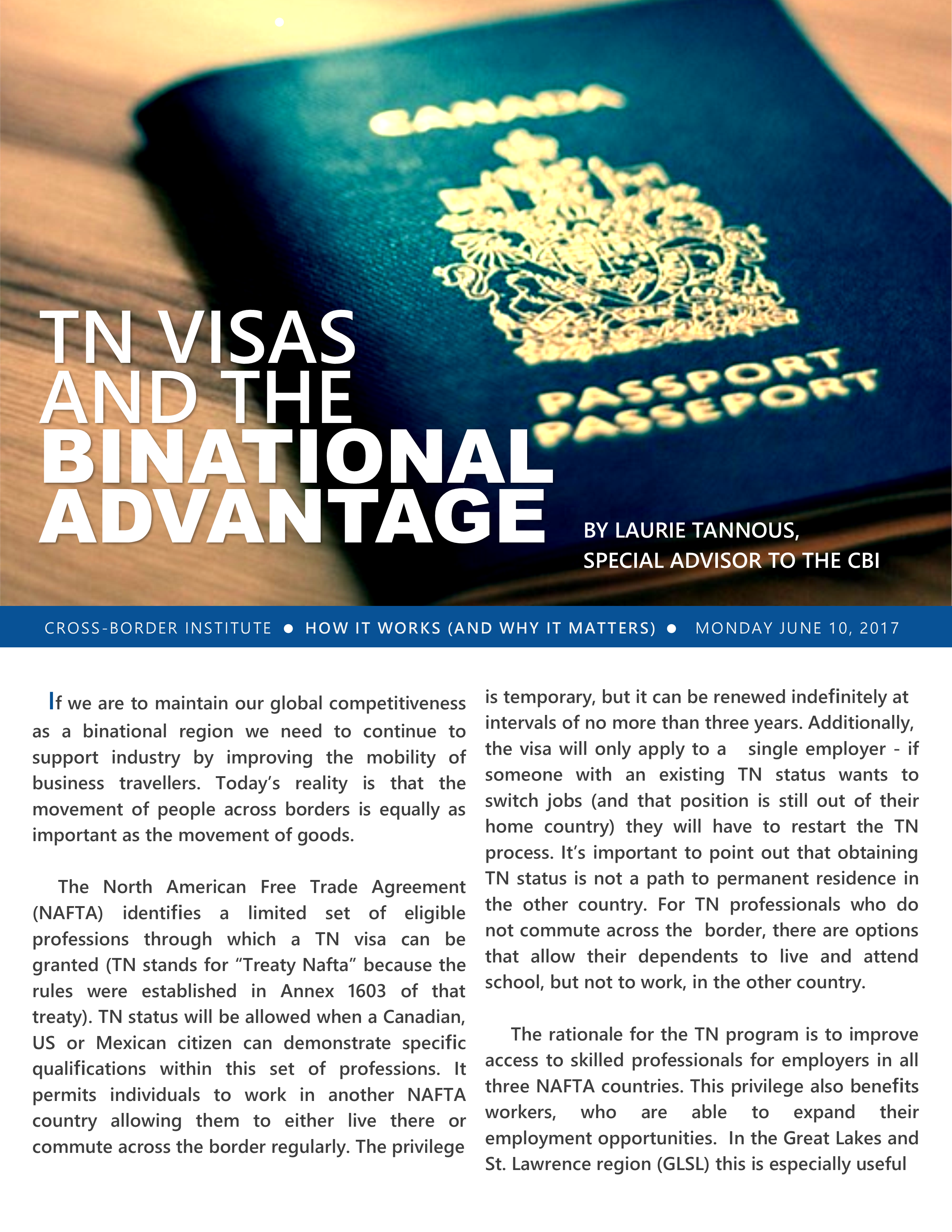 June 2017 – TN Visas and the Binational Advantage